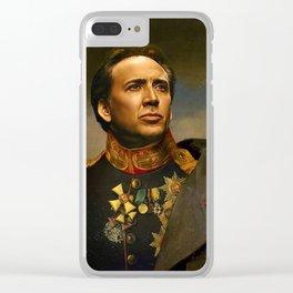 Nicolas Cage Clear iPhone Case