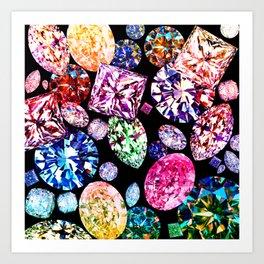 JCrafthouse World Diamond Collage Art Print