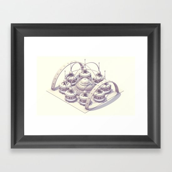 Cycle Charger Framed Art Print