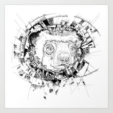 HYPNOTIZED Lemur Art Print