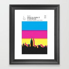 How to make it in america TV books Framed Art Print