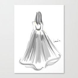 Moving B(l)ackward Canvas Print
