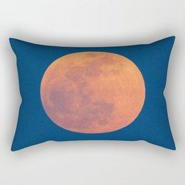 Red Moon, Moon, Blue Sky And Orange Rectangular Pillow