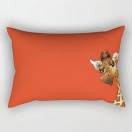Red Giraffe! Rectangular Pillow
