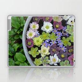 Colorful hellebore flowers Laptop & iPad Skin