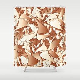 Pattern brown 156 Shower Curtain
