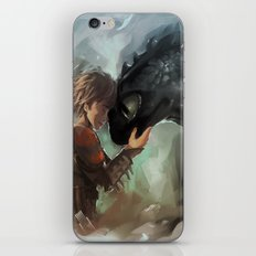 hiccup & toothless iPhone & iPod Skin