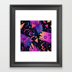 Retro vintage 80s or 90s fashion style abstract  pattern  Framed Art Print