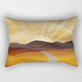 Desert in the Golden Sun Glow II Rectangular Pillow