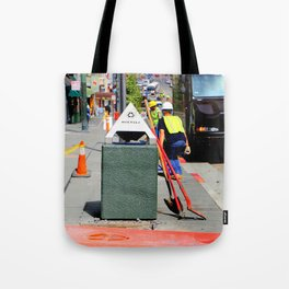 Bend And Squat Tote Bag