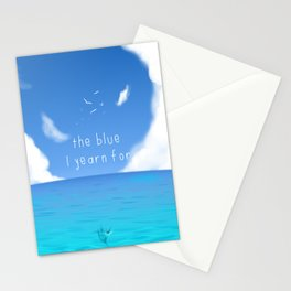 The Blue I yearn for Stationery Cards