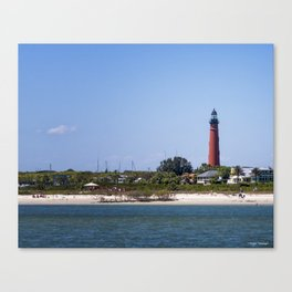 Sunny Day at Ponce Inlet Canvas Print