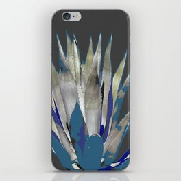 BLUE-GREY AGAVE DESERT CACTUS iPhone Skin