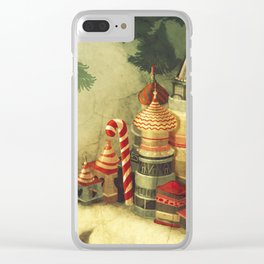 christmas town Clear iPhone Case