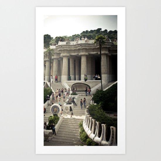 Barcelona. Park Güell Art Print