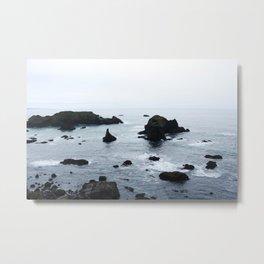 Black Rocks Seascape : Mendocino Metal Print