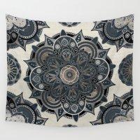 islam Wall Tapestries featuring Silver Mandala by Mantra Mandala