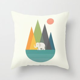Walk In Peace Throw Pillow