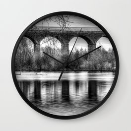 Viaduct at Reddish Vale Country Park Wall Clock