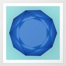 Blue Gem Art Print