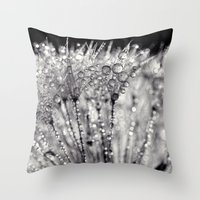 silver Throw Pillows featuring silver by Bonnie Jakobsen-Martin