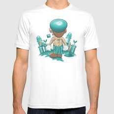 It's a Plumber's Hard Life! MEDIUM White Mens Fitted Tee