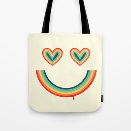 Happy Rainbow Tote Bag