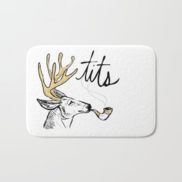 Dirty Dishes-- Stag Bath Mat