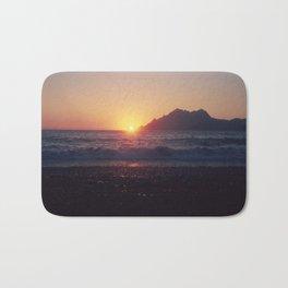 Crash into me - Romantic Sunset @ Beach #1 #art #society6 Bath Mat