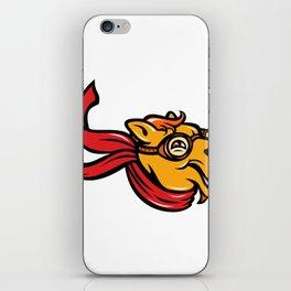 Bactrian Camel Aviator Mascot iPhone Skin
