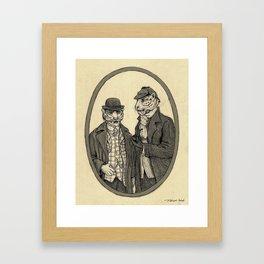 Saber-tooth Sherlock Framed Art Print