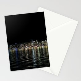 Seattle Night Sea Stationery Cards