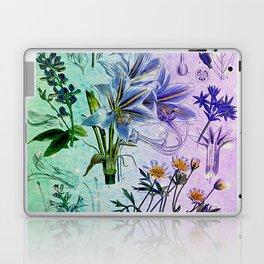 Botanical Study #2, Vintage Botanical Illustration Collage Art Laptop & iPad Skin