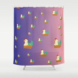 Chicken Party! Shower Curtain