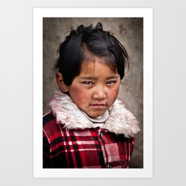 Young Nepalese Girl  Art Print