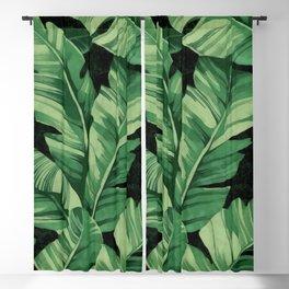 Tropical banana leaves II Blackout Curtain