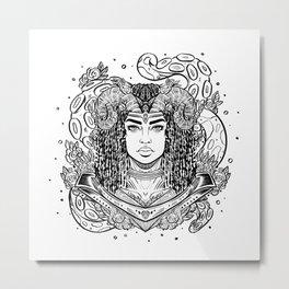 Viking Captain (Daily Sketch Series) Metal Print