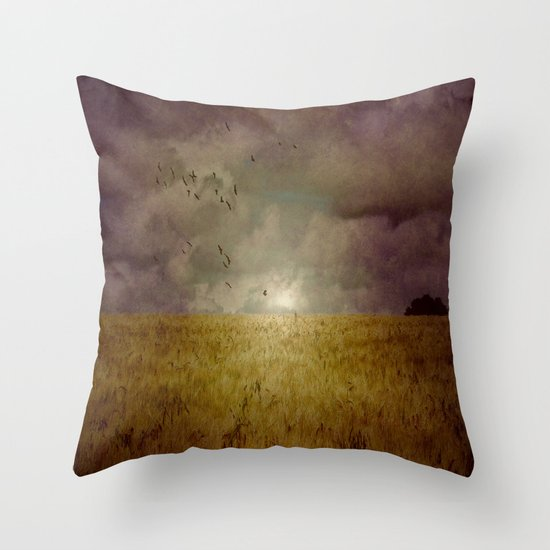 When we walked in fields of gold Throw Pillow