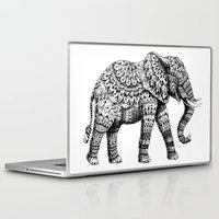 bioworkz Laptop & iPad Skins featuring Ornate Elephant 3.0 by BIOWORKZ