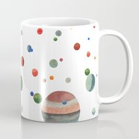 planets Mugs featuring Planets by Ellen Beall Dubreuil