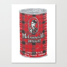 McGraws Ale Canvas Print