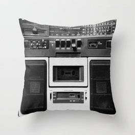 cassette recorder / audio player - 80s radio Throw Pillow
