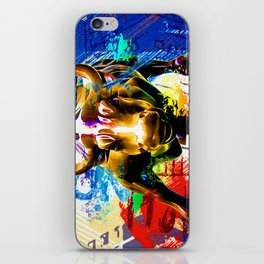 Wall Street Bull Painted iPhone Skin