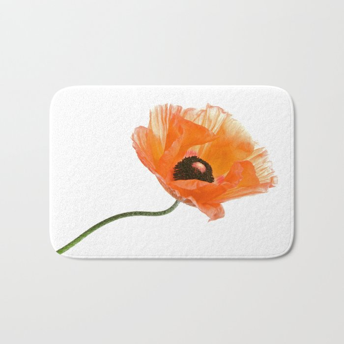 poppy flower IV Bath Mat