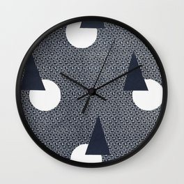 1930's Vintage Geo Navy Design Wall Clock