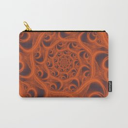 Fractal Web in Halloween Orange Carry-All Pouch