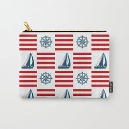 Nautical pattern Carry-All Pouch