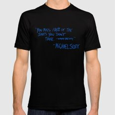 The Office Quote X-LARGE Black Mens Fitted Tee