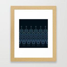 flowing lines pattern 1 Framed Art Print
