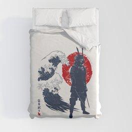 Wave Samurai Duvet Cover